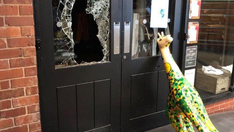 Drunk burglar rammed Worcester shop using giraffe