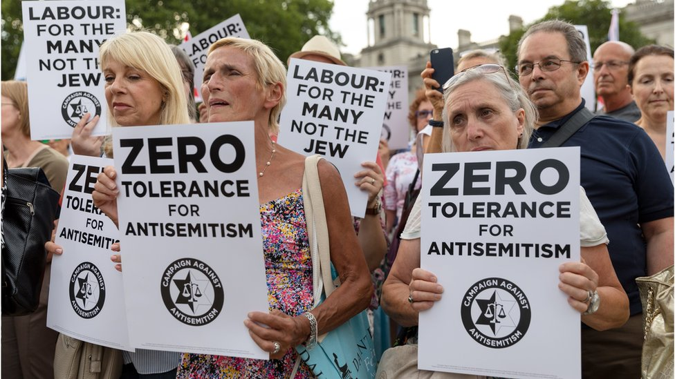 Labour Party members protesting