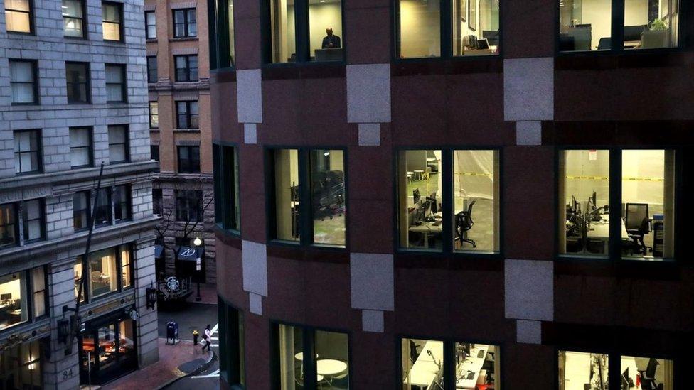 Una oficina vacía en Boston, Estados Unidos.
