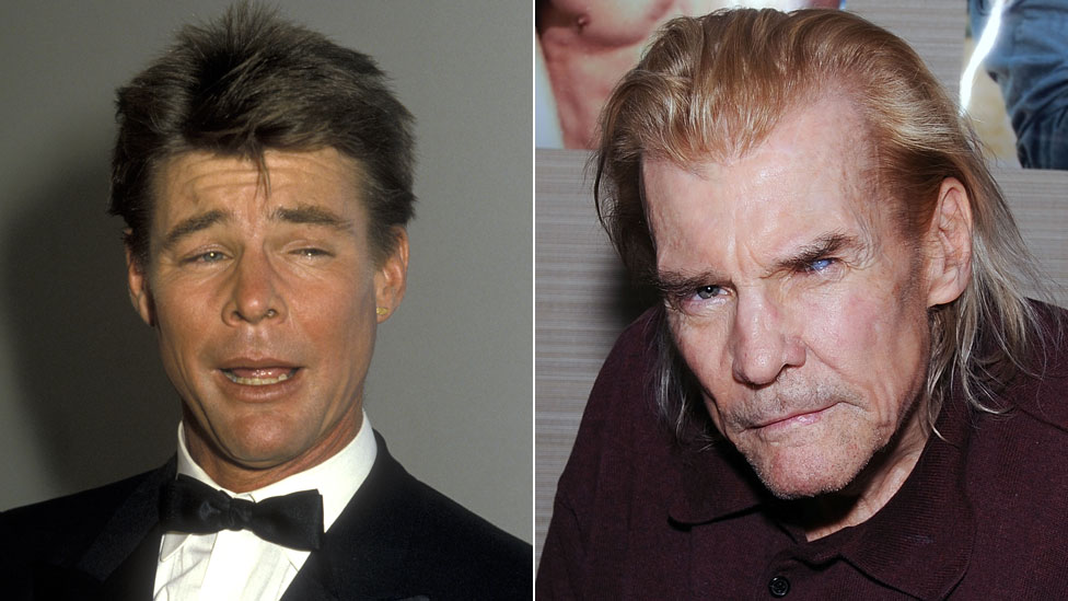 Jan-Michael Vincent in 1986 and 2017