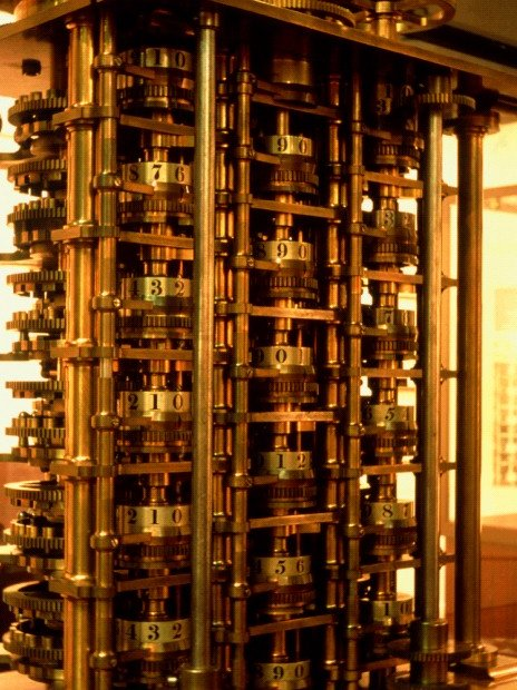 Portion of Difference Engine in Science Museum