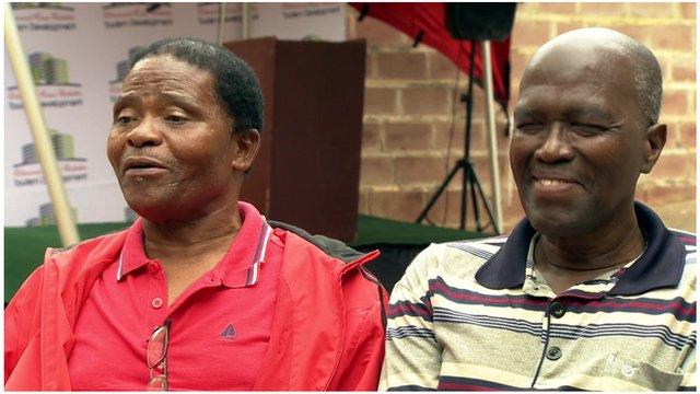Ladysmith Black Mambazo's Joseph Shabalala and Joseph Shabalala