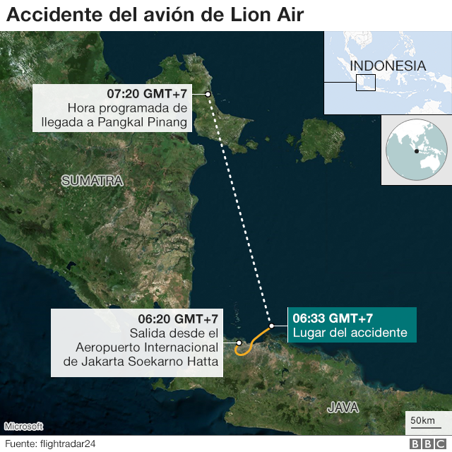 Mapa del accidente