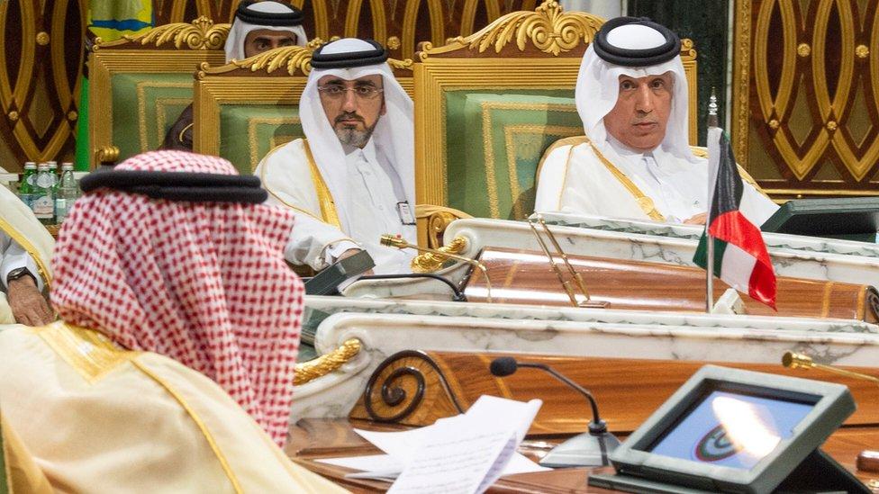 سلطان بن سعد المريخي وزير الدولة للشؤون الخارجية مثل قطر في الاجتماع