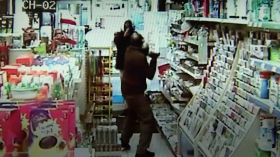 Kent shop worker fights off armed robber
