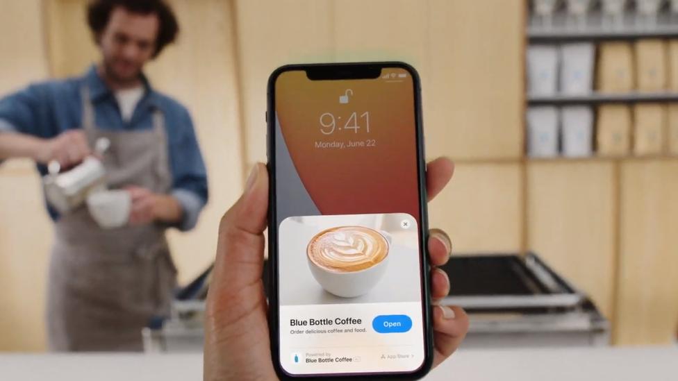 """Demostración de """"App Clips"""""""