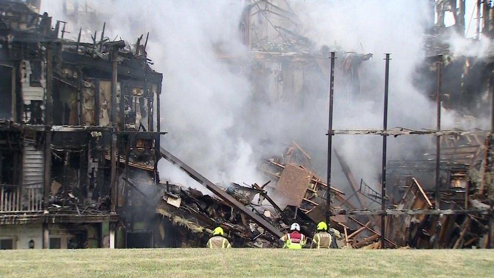 Firefighters battling Worcester Park blaze