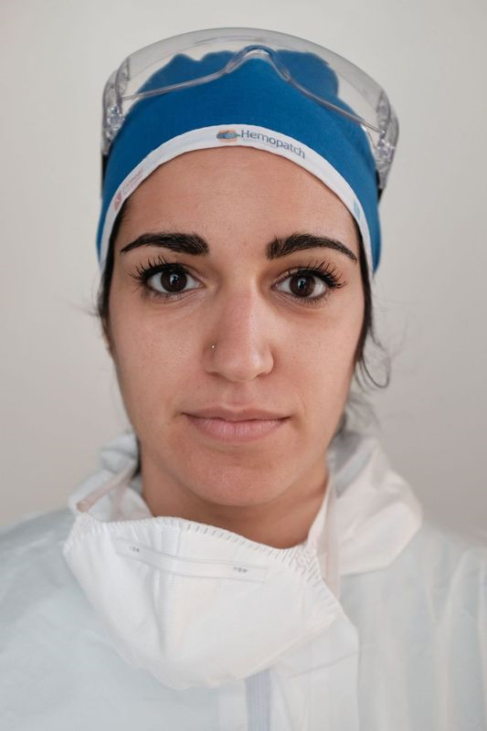 A nurse in her medical PPE