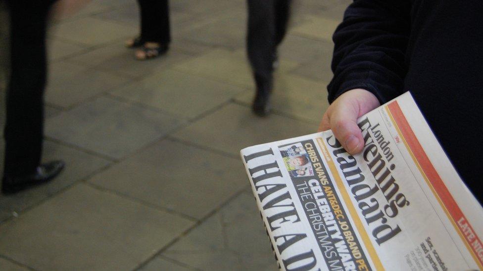 London Evening Standard newspaper
