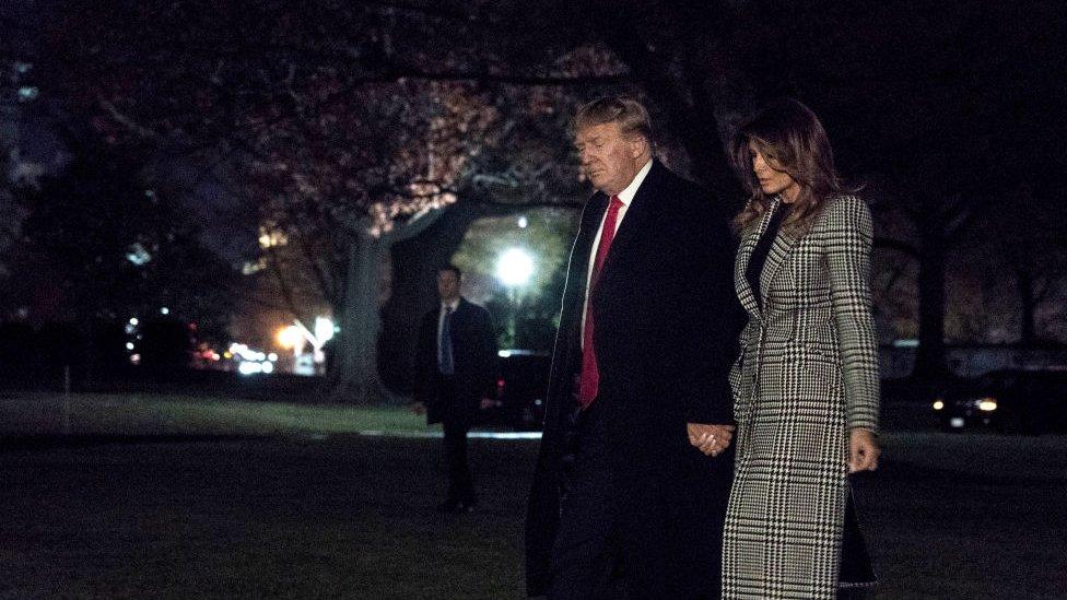 Donald Trump ve eşi Melania Trump