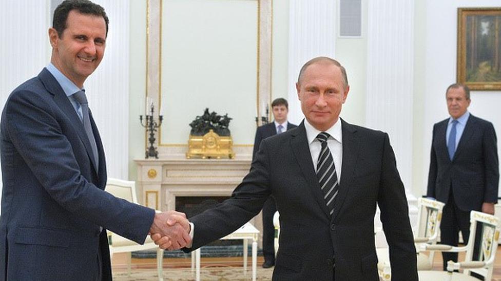 Esad Ekim 2015'te Moskova'ya giderek Putin'le görüştü