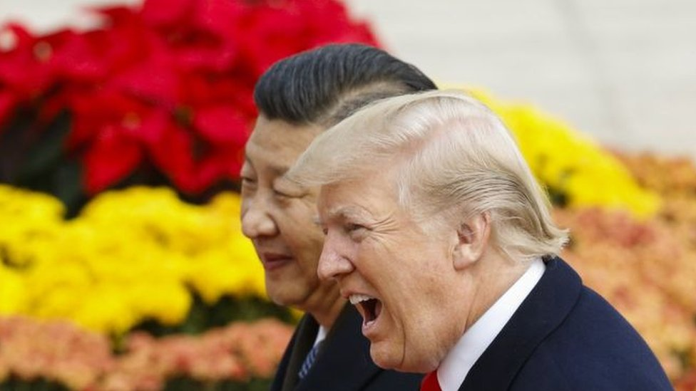 Presidents Xi Jinping and Donald Trump
