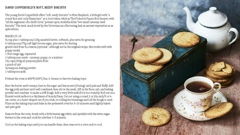 Recipe for soft seedy biscuits with picture of the result