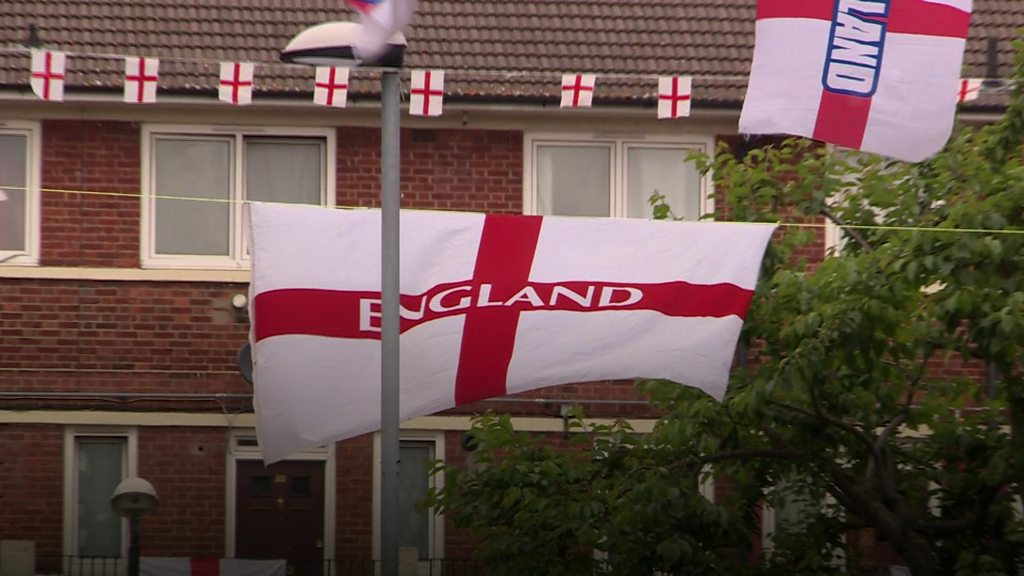 World Cup 2018: Local residents raise the flag for England