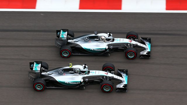Lewis Hamilton fights with team-mate Nico Rosberg in Russia