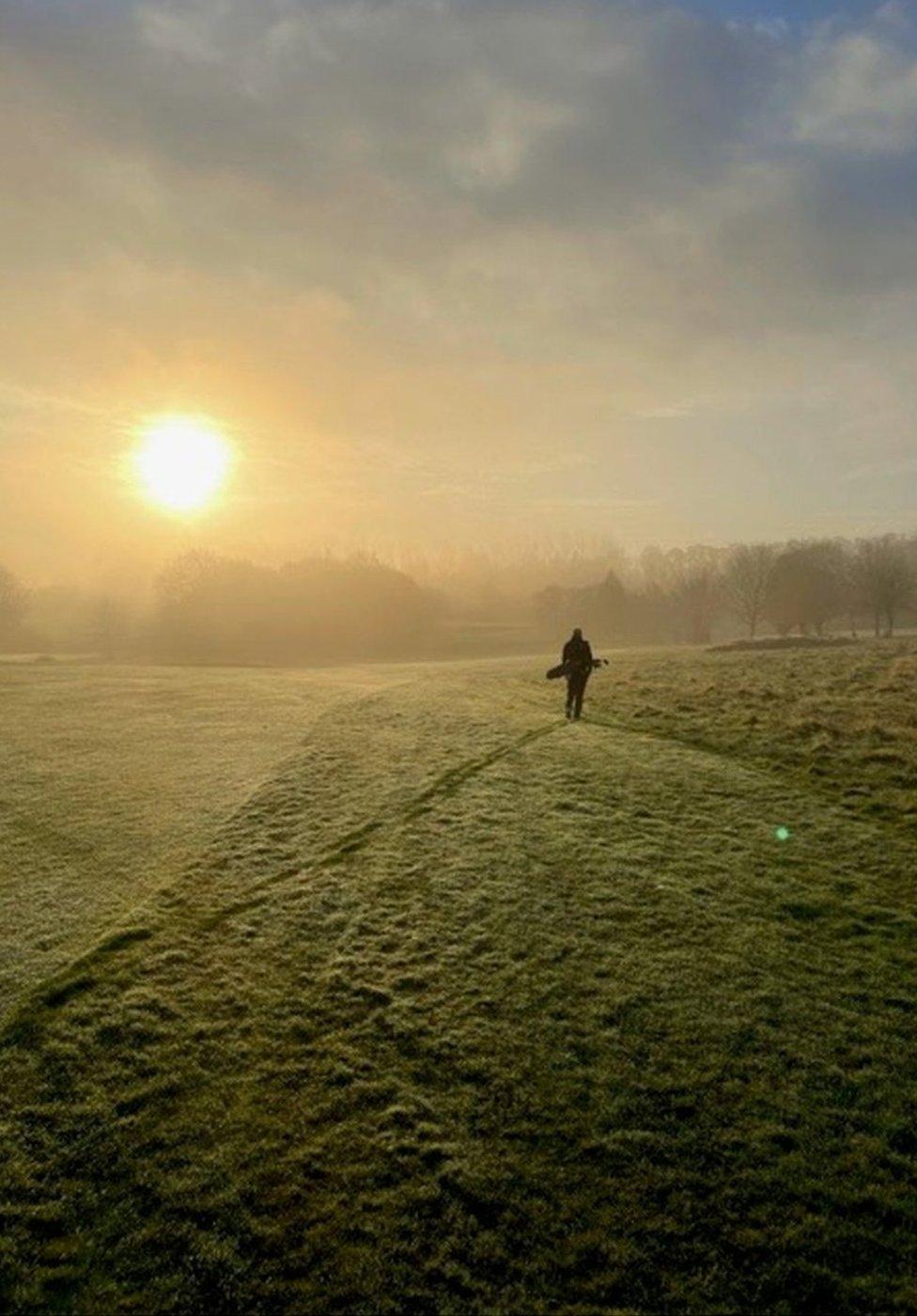 Fog at Rouken Glen golf course