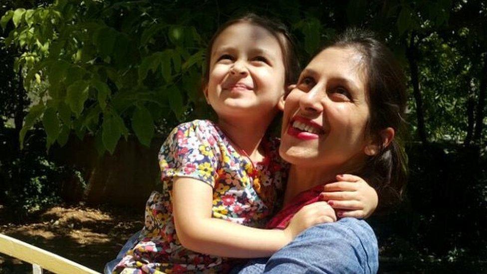 Nazanin Zaghari-Ratcliffe and her daughter Gabriella in Tehran in August 2018