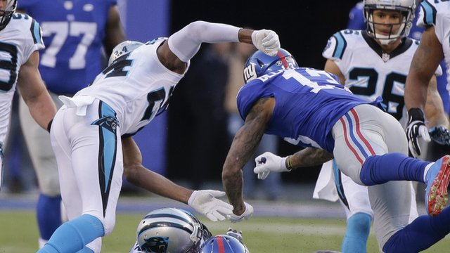 Odell Beckham Jr clashes with Josh Norman