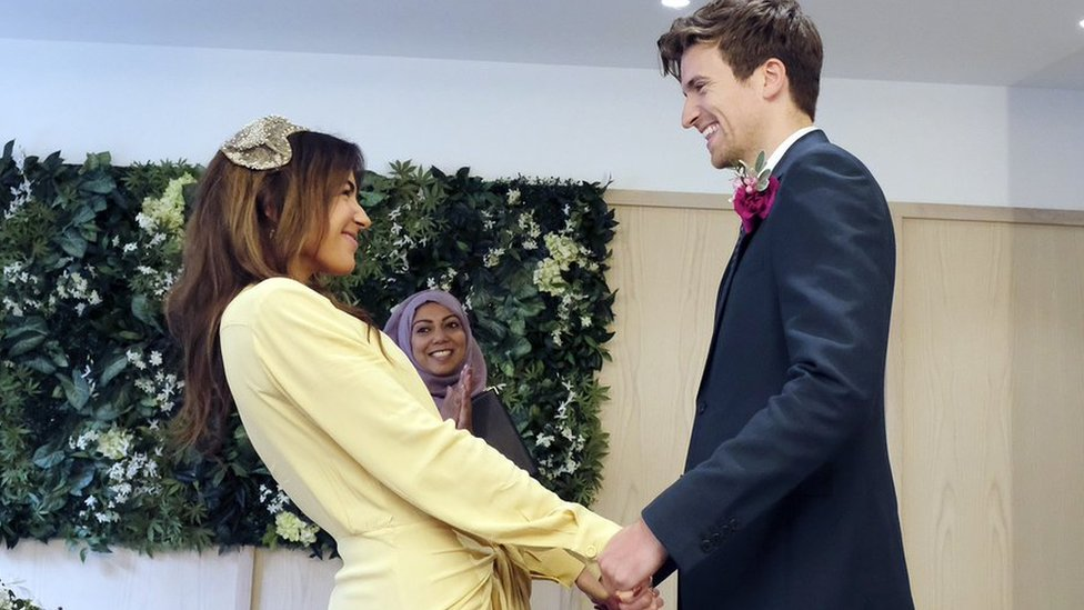 Greg James marries partner Bella Mackie