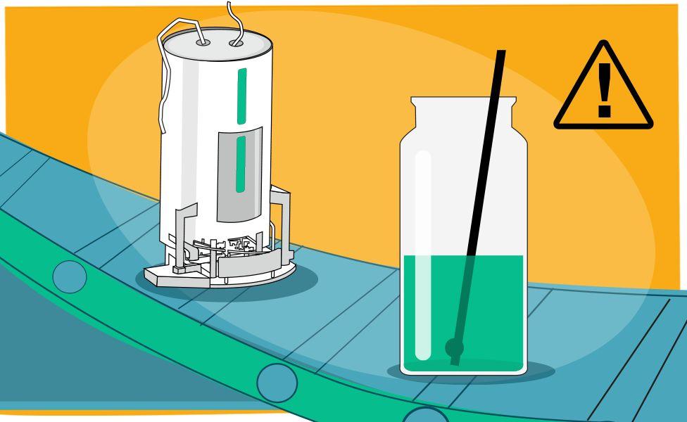Fabricación de vacunas - ilustración