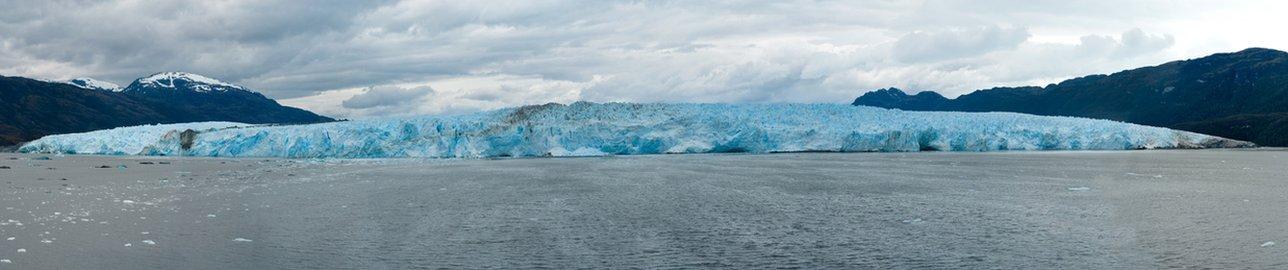 Foto panorámica del glaciar Pio XI de Chile.