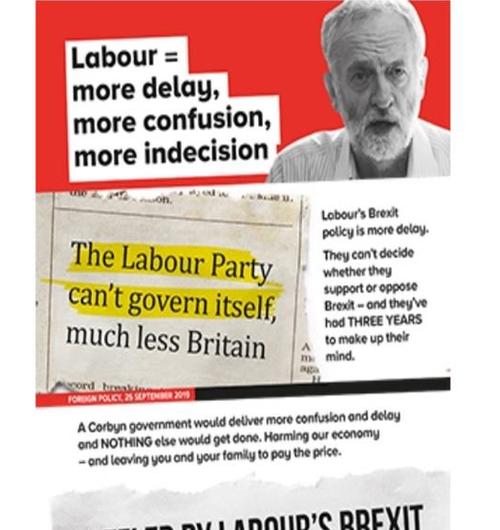 Tory election leaflet