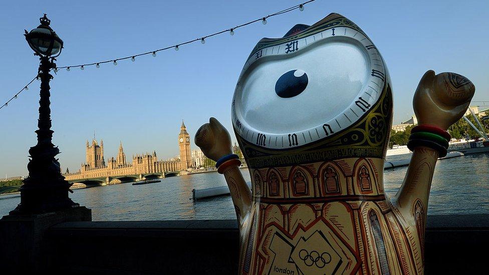 Wenlock, la mascota de los Juegos Olímpicos de Londres 2012.