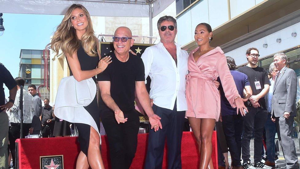 Mel B is currently a judge on America's Got Talent alongside Heidi Klum, Howie Mandel and Simon Cowell