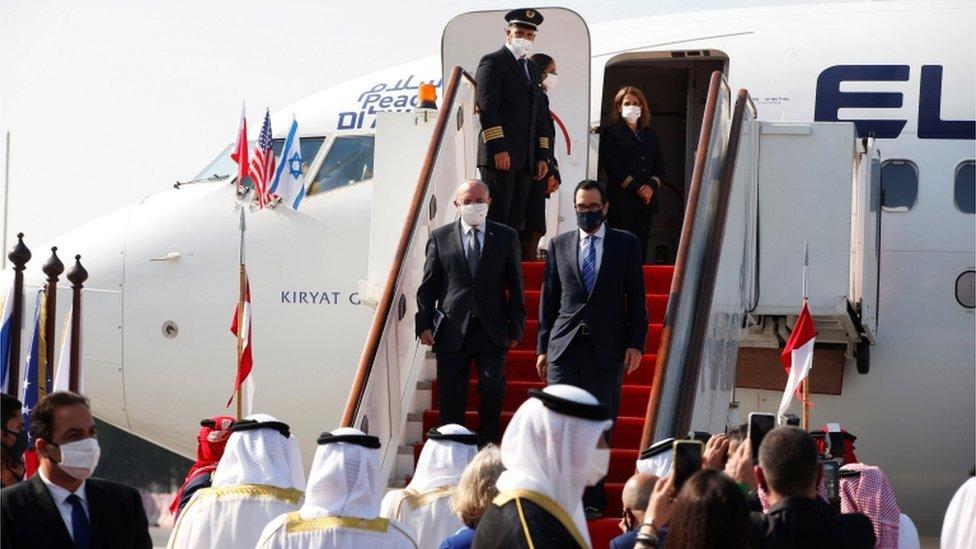 Israeli and US delegates arrive in Bahrain