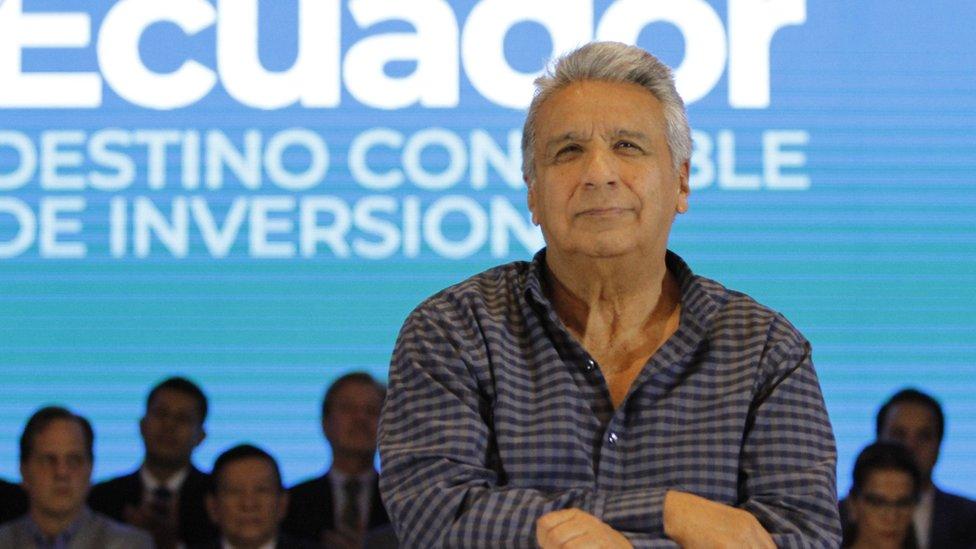 Lenín Moreno en la conferencia.