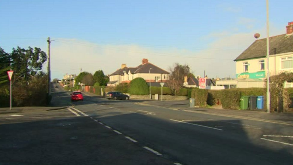 Windmill Road junction with the Donaghadee Road in Bangor