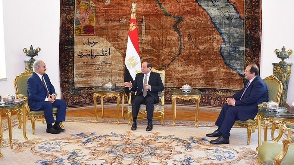General Halife Hafter, Trablus'a operasyon başlattığı Nisan 2019'da Mısır Devlet Başkanı Abdülfettah Sisi ile görüştü