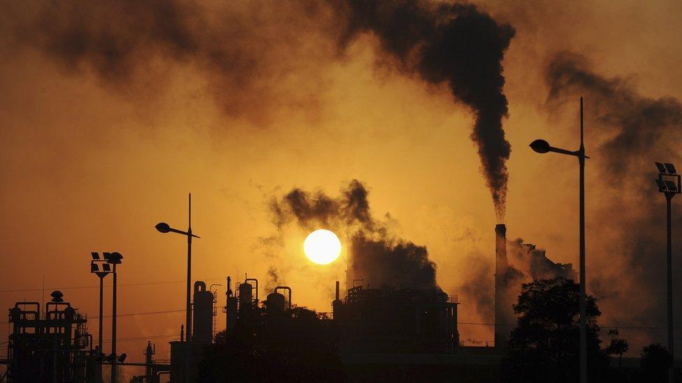中國合肥的工業煙囪