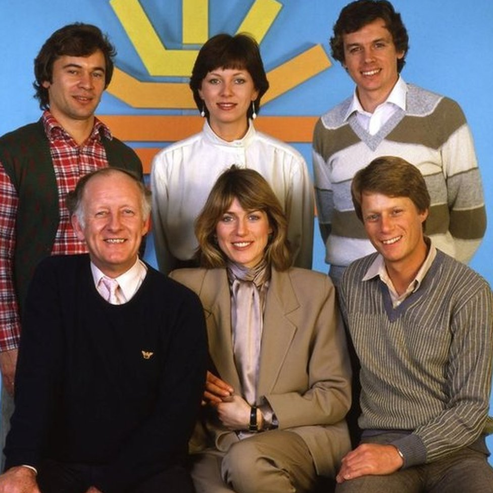 Bough with the Breakfast TV team in 1983