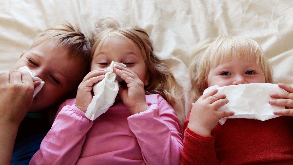 Niños resfriados