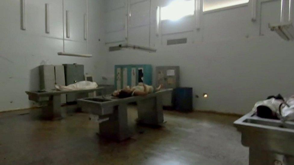 venezuela, jenazah membusuk di rumah sakit.