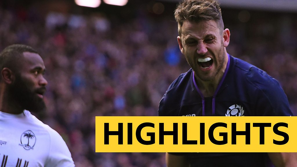 Highlights: Scotland 54-17 Fiji