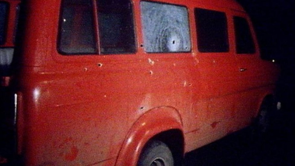 Kingsmills massacre van