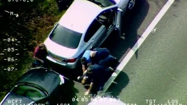 Drug smuggler caught after 100mph chase
