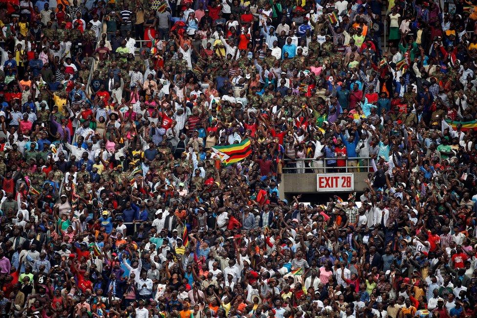 Ceremony for swearing-in of Zimbabwe President Emmerson Mnangagwa