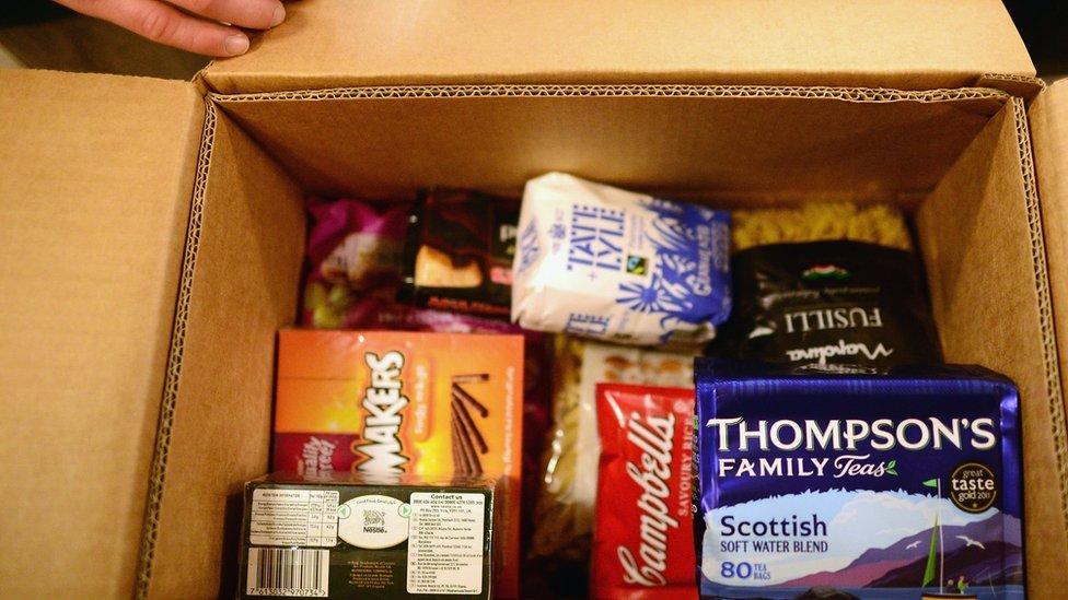 Food bank food parcel