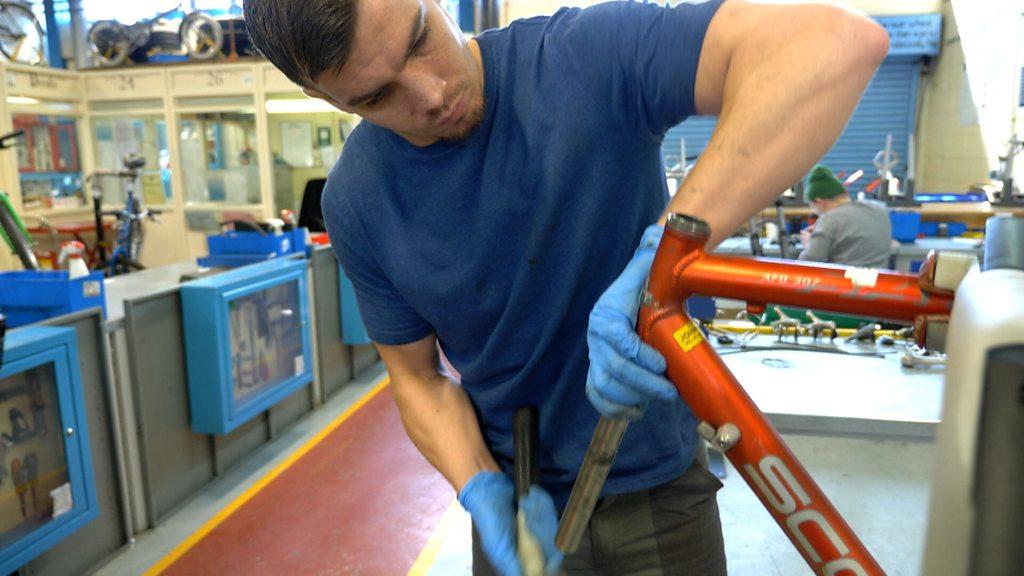 HMP Stocken prisoners fix up bikes for burgled school