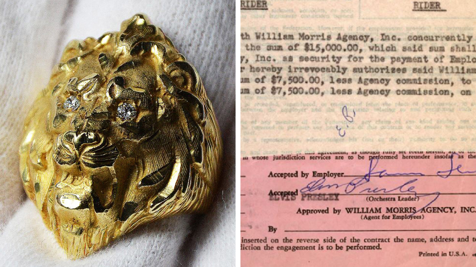 Elvis's gold ring sells for £33,500 at auction