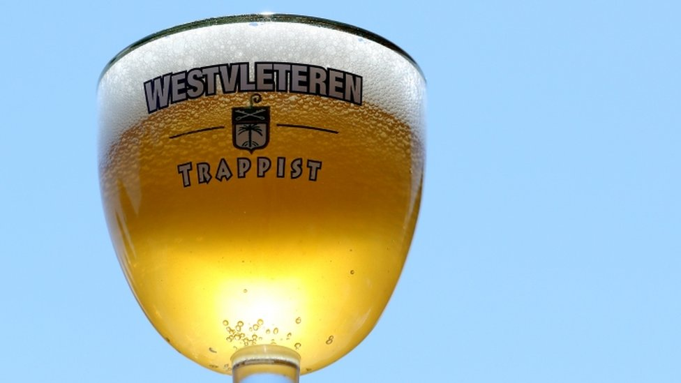 A glass of Belgian Trappist beer