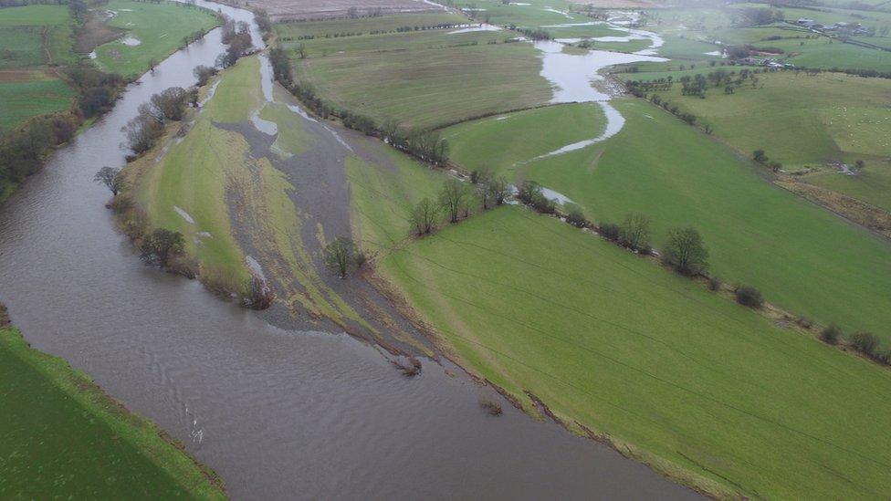 Impact of flooding on River Eden, Cumbria (Image: Neil Entwistle)
