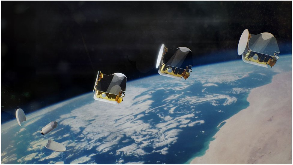 It's possible the three satellites could be launched together, Airbus says