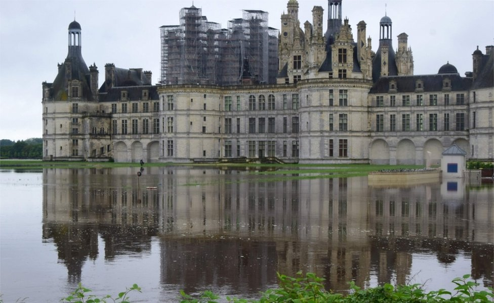 Chambord castle in central France, 1 June