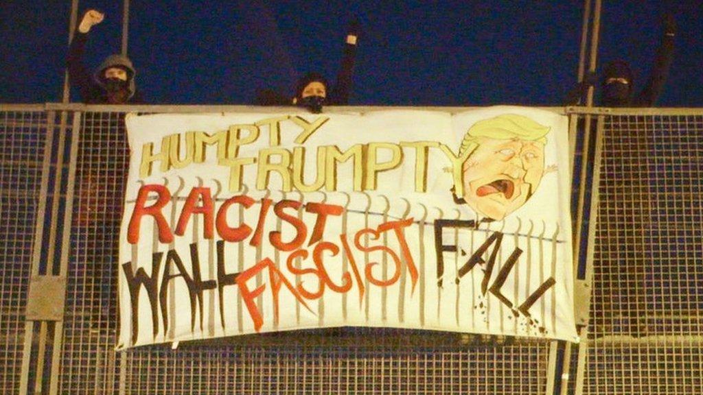 Banner on the bridge