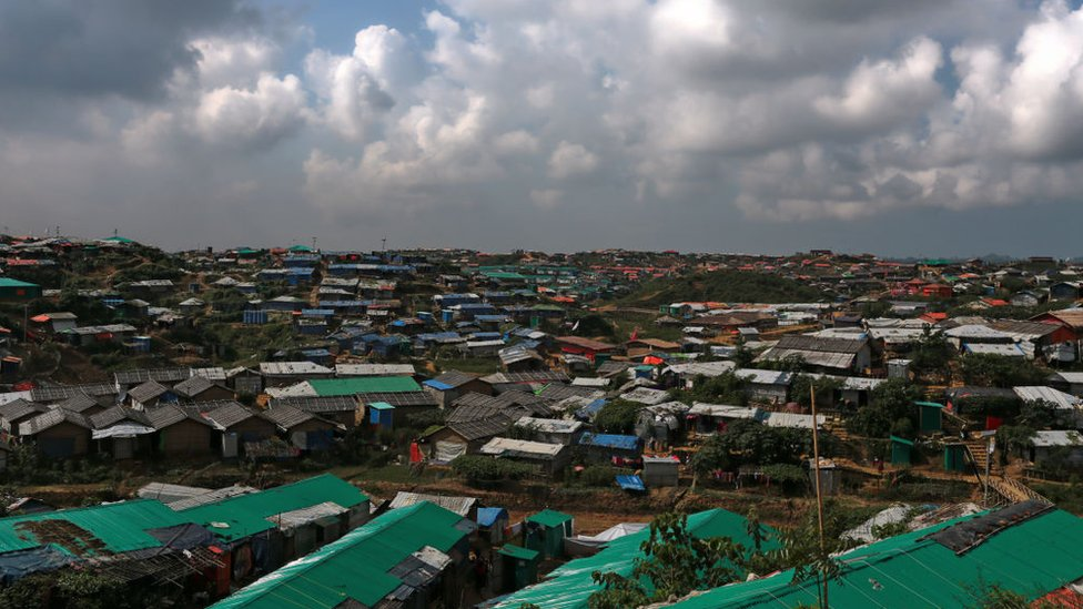 A landscape view in the Kutupalong camp in Cox`s Bazar, Bangladesh, October 16, 2018.