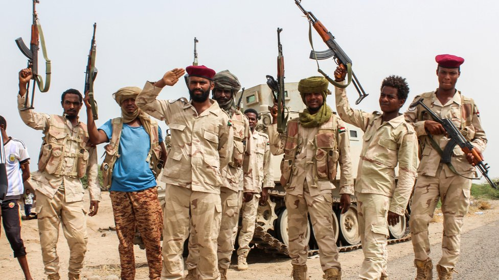 Sudanese troops in Yemen